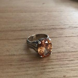 Silpada, Peach Cubic Zirconia, Sterling Silver